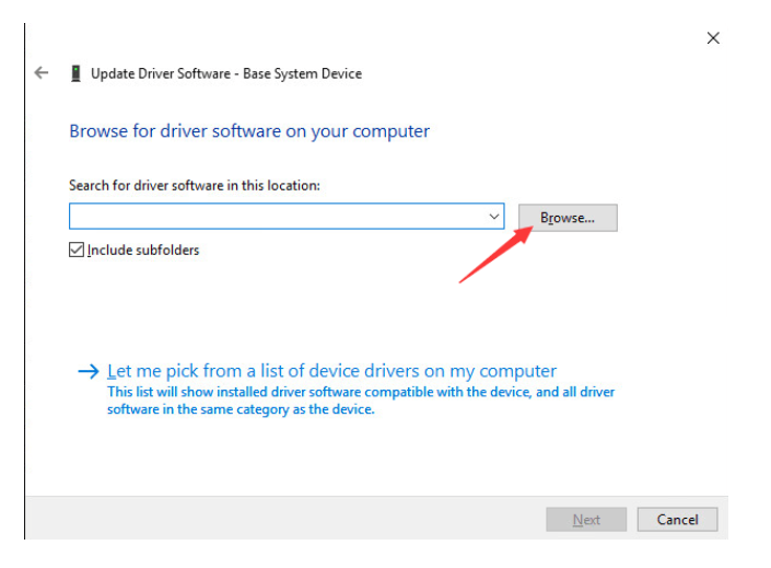 downloaded driver or extracted the driver earlier